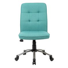 Zipcode™ Design Mid-Back Office Task Chair | $122 per reviews, this is really a dark teal color, which I prefer!
