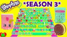 Shopkins Season 3 Opening of 6 12 Packs on Shopkins Case