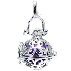 Klangkugel violett - Engelsflüsterer - inkl. 70 cm Halskette