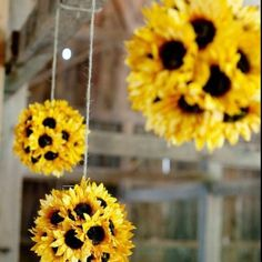 Cute, probably would just do a few maybe in the entrance since fake flowers are relatively expensive. And then maybe put a few on center pieces to tie them in.
