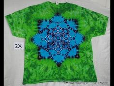 How to Tie-Dye Lotus Mandala pt 1 ~ Tying - YouTube
