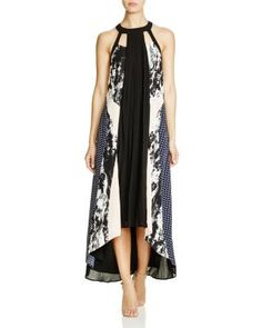 Adelyn Rae Printed Pleated Maxi Dress   Bloomingdale's