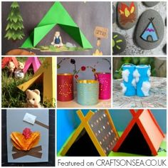 Love the great outdoors? Inspire your kids imagination with these fun camping crafts for kids, easy ideas they'll adore including campfire crafts, tents, lanterns and more. Camping Toys, Camping Games Kids, Camping Crafts For Kids, Summer Crafts For Kids, Crafts For Kids To Make, Toddler Crafts, Toddler Toys, Activities For Kids, Kids Fun