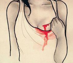 Imagen de heart, blood, and broken