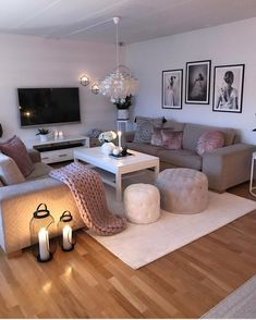 Affirmations Home Living Room Designs Cozy Living Rooms Living Room Ideas 2019, Living Room Goals, Cozy Living Rooms, Home And Living, Simple Living, Living Room Candles, Modern Living, Living Room Decor Grey Sofa, Tv On Wall Ideas Living Room