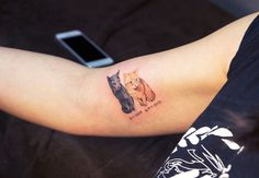 Cat Tattoos Are Probably the Cutest Way to Honor Your Four-Legged Friend, http://itcolossal.com/tattoos-way-honor-friend/