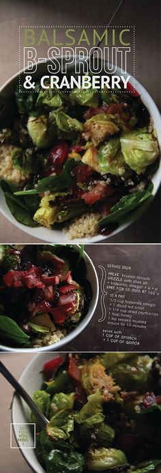 bona food: Balsamic Brussel Sprouts & Cranberry