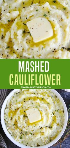 Try something different with this Mashed Cauliflower. This is a low carb healthy side dish that is flavored with garlic herbs and butter. Loaded with a creamy and delicious texture this easy recipe is best served for Easter party or meal! Diabetic Side Dishes, Low Carb Side Dishes, Veggie Side Dishes, Healthy Side Dishes, Side Dishes Easy, Side Dish Recipes, Diabetic Meals, Diabetic Friendly, Cauliflower Side Dish