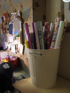 wrapping paper storage | Flickr - Photo Sharing!