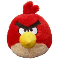 Boneco Pássaro de Pelúcia Angry Birds Vermelho com Som - Pelúcias - Crianças - Bebês e Infantil