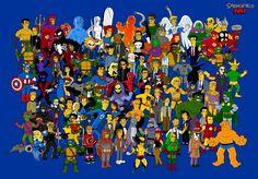 HD wallpaper: Marvel Super heroes illustration, The Simpsons, Homer Simpson Simpsons Cartoon, Simpsons Characters, Comic Book Characters, Comic Character, Scarecrow Character, Marvel Characters, Character Design, Comic Books, Disney Characters