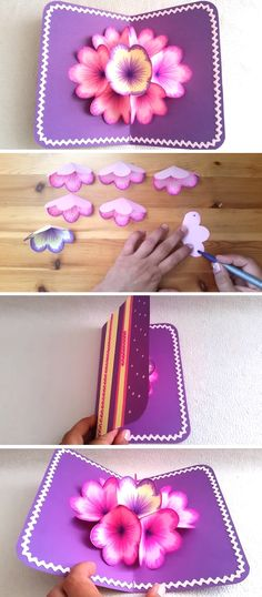 DIY 3d Flower Pop Up Card – Neesly