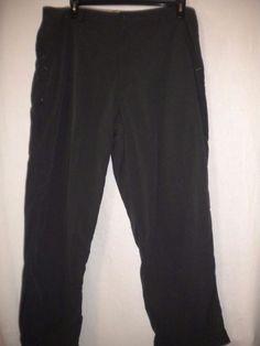 "REI Size 38 X 29"" Inseam Nylon Charcoal Hiking Zip Side Leg Pockets Mens Pants…"