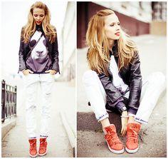 Sweater, Zara Jeans, Chanel Bag, Diesel Watch