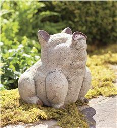 Volcanic Ash Happy Pig Statue