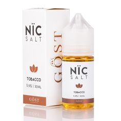 Nic Salt - Tobacco by GOST Vapor E-Liquid presents a rich, full-bodied tobacco flavor with smooth and bold delivery for your taste buds. Giving Up Smoking, Tobacco Smoking, Vape Juice, Electronic Cigarette, Taste Buds, How To Fall Asleep, Salt, Perfume, Bottle
