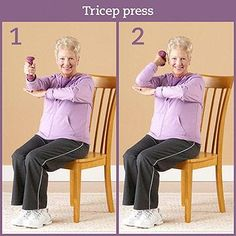 Physical activity is important when you have diabetes. Diabetic foot pain or flexibility don't need to keep you from exercising. Grab a chair and take a seat for these simple stretches, low-impact strength exercises, and cardio moves. Senior Fitness, Yoga Fitness, Fitness Tips, Senior Workout, Fitness Routines, Fitness Exercises, Aerobic Exercises, Stretching Exercises, Stretches