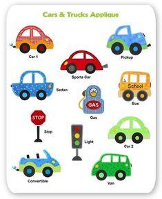 Car Truck Embroidery Applique Designs