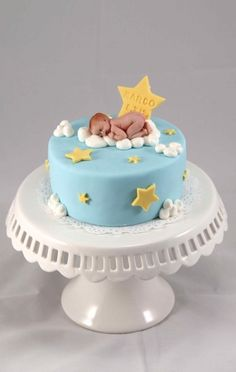 Baby shower cakes on pinterest monkey baby showers baby for 6 month birthday decorations