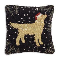 Golden Christmas Pillow