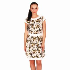 Tokio Dress With Floral Elements