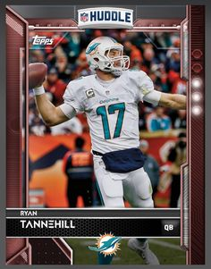 Ryan Tannehill Miami Dolphins Red Parallel Card 2016 Topps HUDDLE