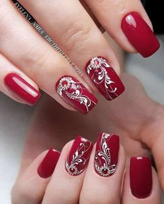 Simple Winter Nails Red Colors For Short Nails Art Designs Um ., Simple Winter Nails Red Colors For Short Nails Art Designs To . - Simple Winter Nails Red Colors For Short Nails Art Designs Red Nail Art, Red Acrylic Nails, Red Nails, Gradient Nails, Winter Nail Art, Winter Nails, Cute Nails, Pretty Nails, Nail Art For Kids