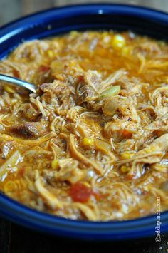 Brunswick Stew Recipe: 3 cups shredded chicken 3 cups pulled pork from pork roast recipe 3 cups shredded beef 2 cups beef stock 1 medium onion, diced 5 medium red potatoes, diced 1 (15-ounce) can Lima beans 4 cups cream style white corn 1 (24-ounce) can diced tomatoes ¼ cup ketchup 3 tablespoons brown sugar 2 tablespoons apple cider ....
