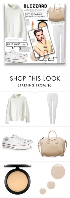 """""""Brrrrr! Winter Blizzard"""" by fernandamaverick ❤ liked on Polyvore featuring Chicwish, 7 For All Mankind, Converse, Givenchy, MAC Cosmetics, Topshop, Dolce&Gabbana, H&M, converse and vogue"""