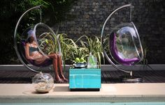 BUBBLE CHAIR SWIMMING POOL AREA