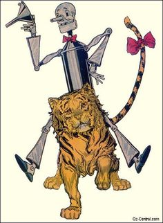 Tin Woodman and Tiger  of Oz, illustrated by John R. Neill