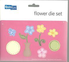 Quickutz Flower 7 Die Set NEW Scrapbooking Paper Crafts Cards #QuicKutz