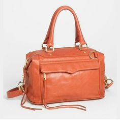 "NWT Rebecca Minkoff Leather Mini Mab Satchel 100% Authentic Guaranteed  Beautiful Color of Bittersweet and 100% Leather  Don't let the ""Mini"" part of this bag's description fool you. Large Lots of Pockets Different Ways to carry Beautiful Color for any season Rebecca Minkoff Bags Satchels"