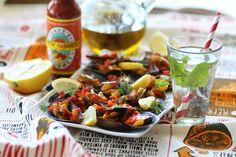 Moules à l'espagnole muy caliente - Spicy hot spanish mussels