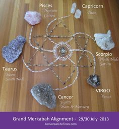 RARE MERKABAH Astrological Alignment Tonight.... Gifting you all a MERKABAH CRYSTAL GRID that I created yesterday to help you to connect in. Here are all the details of how to use : http://www.universallifetools.com/2013/07/merkabah-activation/