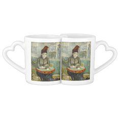 Agostina Segatori in Cafe du Tambourin by Van Gogh Lovers Mug Sets