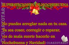 SUPERSTICIONES DE NOCHEBUENA  No puedes arreglar nada en tu casa. Ya sea coser, corregir o reparar, ¡es de mala suerte hacerlo en Nochebuena y Navidad!  #FelizFinde #NocheBuena #FelizNavidad #MerryChristmas #PapaNoel