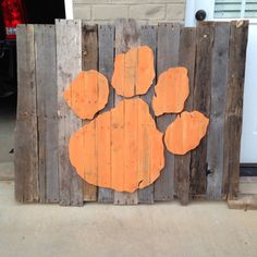 Clemson Wooden Pallet Wall Decor by Blessitdesigns on Etsy, $120.00
