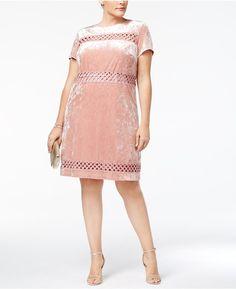 54365092f9b76 Sangria Velvet Crochet Dress Holiday Party Dresses