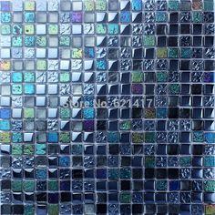 гальванических стеклянная мозаика плитка кухни плинтус ванной душевая мозаика мини квадратная колонна мозаика