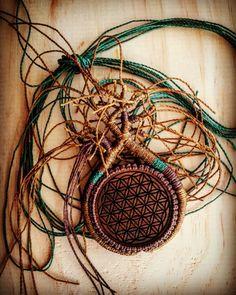 Work in progress. LifeLovesMe micro macrame creations. Macrame tree necklace with walnut wood flower of life pendant.  www.etsy.com/au/shop/LifeLovesMe or www.instagram.com/ilovelife.n.lifelovesme