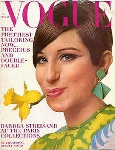 Vintage Vogue magazine covers - mylusciouslife.com - Vintage Vogue March 1966 - Barbara Streisand.jpg