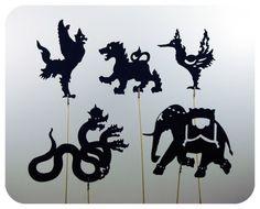 Thai Legends Shadow Puppet Set. La manera de enganxar és molt xula