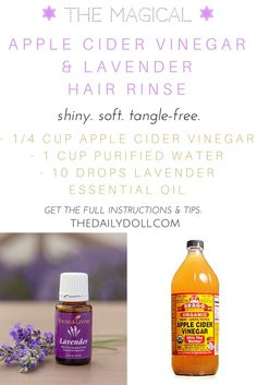 Apple Cider Vinegar Hair Rinse Recipe at TheDailyDoll.com