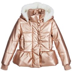 Billieblush - Girls Copper Padded Jacket | Childrensalon