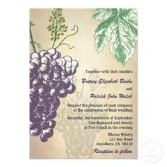 Vintage Tuscan Winery Vineyard Wedding Invitations -- found: http://www.zazzle.com/vintage_tuscan_winery_vineyard_wedding_invitations-161198852324343749?rf=238473901001614851
