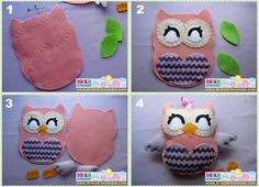 Plush owl.. Instructions are in Spanish but I should be able to follow using the pic.