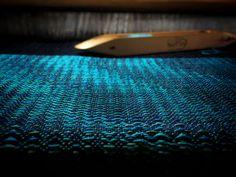 Arctic Night - reeled mulberry silk & superfine merino shawl