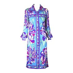 Emilio Pucci Side Slit Shirtwaist   From a collection of rare vintage day dresses at https://www.1stdibs.com/fashion/clothing/day-dresses/