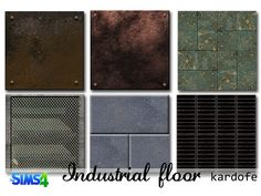 Rusty metal industrial flooring, two of them are grids  Found in TSR Category 'Sims 4 Floors'